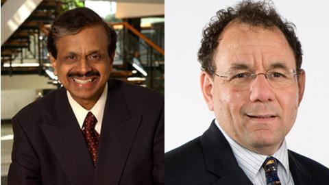Alumnus Dr. Prabha Kundur and Professor Jonathan Rose (ECE)