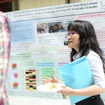 Students discuss biotechnology innovations at the conference. (Photo: Roberta Baker)