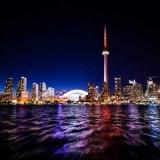 LEDs light up Toronto's CN Tower (Photo: Amarpreet via Flickr).