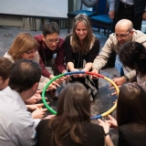 Participants in last year's U of T Science Leadership Program take part in a creative thinking exercise.
