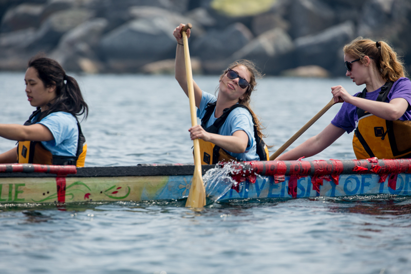 Students participating in the 2015 Canadian National Concrete Canoe Competition (CNCCC)