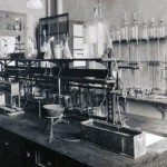 Historic photo of Frederick Banting's laboratory