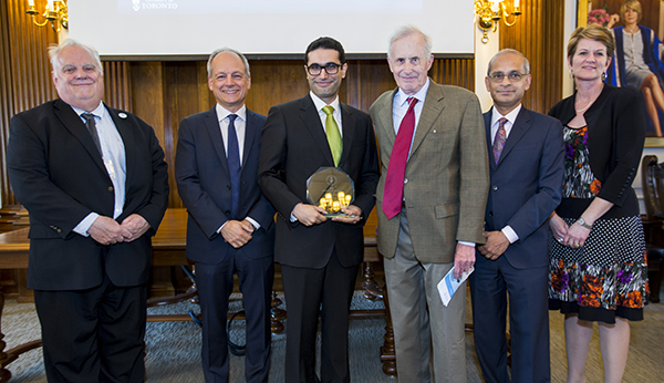 Peter Lewis, Meric Gertler, Amir Manbachi, Richard Cobbold, Vivek Goel and Jennifer Fraser