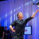 Raffaello D'Andrea demonstrating a quadrocopter