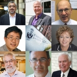 Composite of Professors Kamran Behdinan, Greg Evans, Jim Wallace, Pu Chen, Anne Sado, Michael Sefton, Vladimiros Papangelakis and Norbert Morgenstern