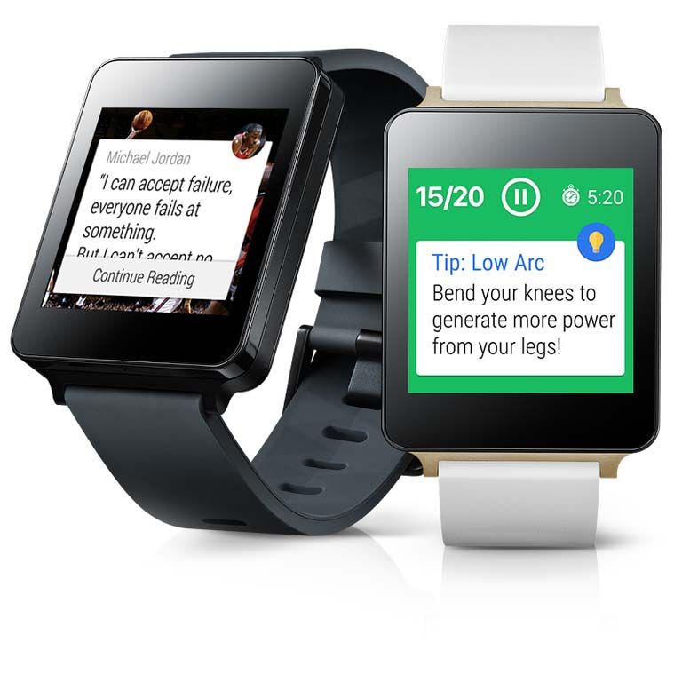 Onyx Motion app on a smartwatch