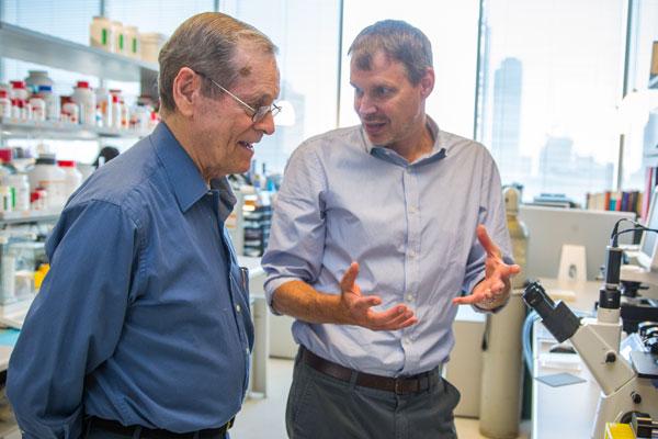 Professor Emeritus James Till and Professor Peter Zandstra