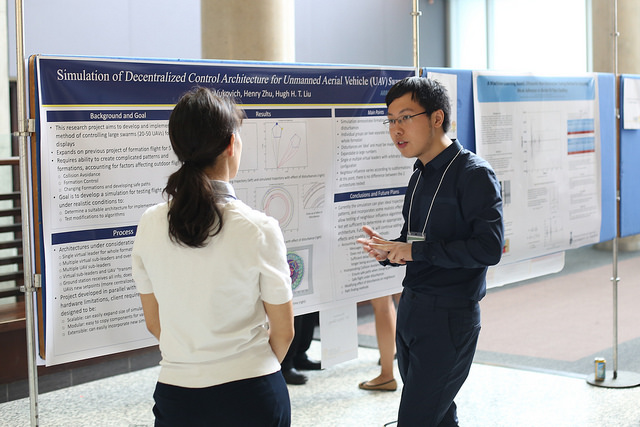 Student at Undergraduate Engineering Research Day (UnERD)