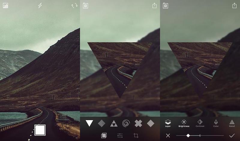 Screen captures of the SHIFT app (Image: Parham Aarabi).