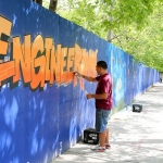 Toronto's longest single graffiti installation celebrates the Centre for Engineering Innovation & Entrepreneurship