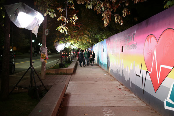 #CEIExSKAM, Toronto's longest single graffiti installation for Scotiabank's Nuit Blanche