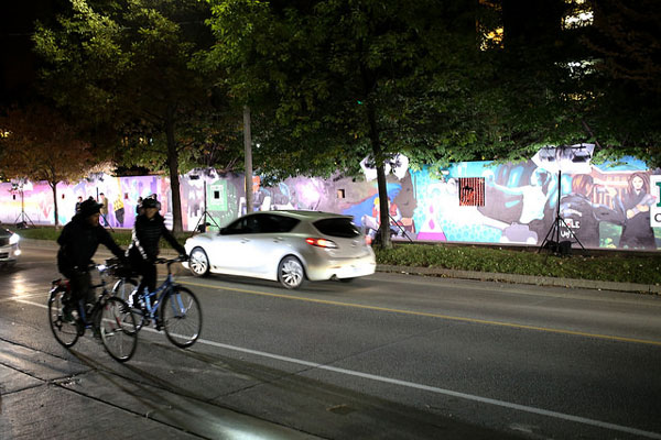 U of T Engineering's street art installation for Scotiabank's Nuit Blanche, #CEIExSKAM