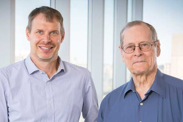 Engineering professor Peter Zandstra and University Professor Emeritus James Till