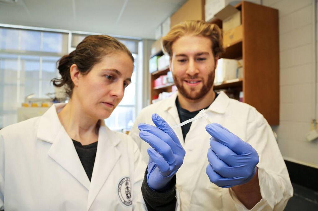 Professor Alison McGuigan and PhD candidate Darren Rodenhizer