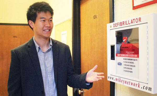 Graduate student Christopher Sun