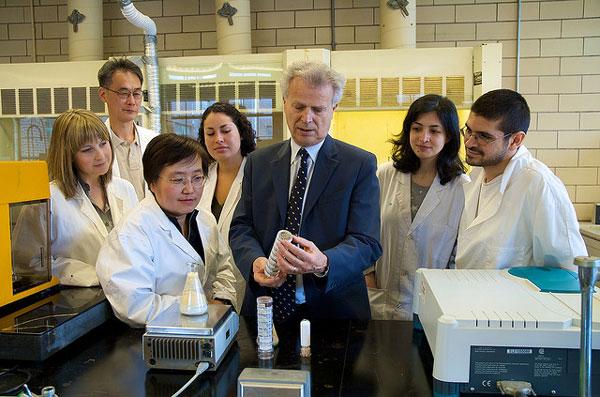 Professor Levente Diosady and his team