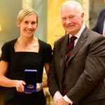 Sasha Gollish with Governor General David Johnston