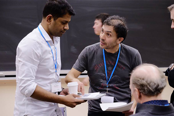 Recipe for success: coffee, and advice from Joseph Orozco, entrepreneur and executive director of The Entrepreneurship Hatchery. Twenty-three student teams worked to turn ideas into viable business plans at Hatchery Accelerator Weekend, Jan. 22 and 23 at the University of Toronto.