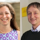 University Professor Molly Shoichet (ChemE, IBBME) and University Professor Emeritus Geoffrey Hinton (Department of Computer Science, Faculty of Arts & Science) have both been elected as Foreign Members of the U.S. National Academy of Engineering. (Photo: Roberta Baker/Johnny Guatto)