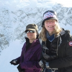 Claire Kennedy and Anouk Beauvais in Antarctica