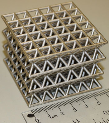 Truss-like structures made of polymers coated with ultra-high strength nanocrystalline metal could offer strength and stiffness while reducing weight, ideal for an aviation industry where every gram matters. (Photo: Craig Steeves)