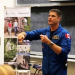 Astronaut Jeremy Hansen inspires students at U of T Engineering