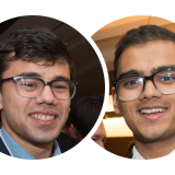 Ashis Ghosh (MechE 1T5 + PEY) and Karim Koreitem (ECE 1T5 + PEY) are two of the four U of T Engineering students striving to bring their business ideas to fruition in this year's cohort of The Next 36. (Photo: Stephanie Lake/The Next 36)