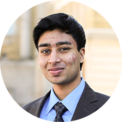 Rahul Goel (EngSci 1T6) is one of the co-founders of PheedLoop, a Hatchery startup from the 2014 cohort. (Photo: Roberta Baker)