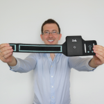 U of T Engineering alumnus Jason Yakimovich (CompE 1T3+PEY) is the inventor of Sola, a personal and controllable heating device worn on the upper arm. (Courtesy: Jason Yakimovich, Sola)