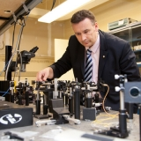 Professor Stewart Aitchison (ECE) is just one of seven U of T Engineering professors and alumni honoured with Ontario Professional Engineers Awards this year. (Photo: Roberta Baker)
