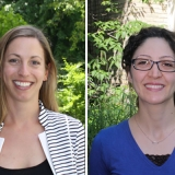 Marianne Touchie (CivE, MIE) and Fae Azhari (MIE, CivE)  are two new professors who joined U of T Engineering in July 2016. (Photo: Keenan Dixon)