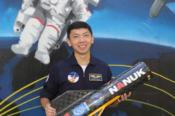 Jeremy Wang (Year 4 EngSci) has been selected to join the Canadian Space Agency's official delegation to the 2016 International Astronautical Congress (IAC) in Guadalajara, Mexico. (credit: Tyler Irving).