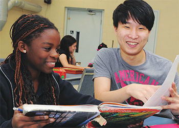 Kevin Han (right) teaches in the Chill Zone (Courtesy: Kevin Han).