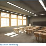 A rendering of a classroom at University of Toronto Schools, part of the U of T Engineering team proposal to compete at the Green Energy Challenge in Boston. (Courtesy: CECA/NECA U of T).