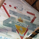 "U of T Engineering students of the class of 4T3, choosing to complete their education during the Second World War, painted a mural in the rafters featuring a portrait of Winston Churchill and his line, ""Give us...the Tools."""