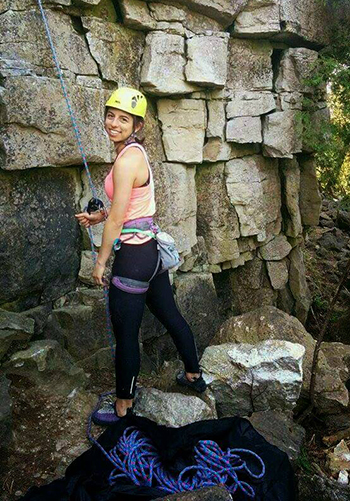 Gaglione goes rock climbing near Milton, Ont. (Courtesy: Stephanie Gaglione).