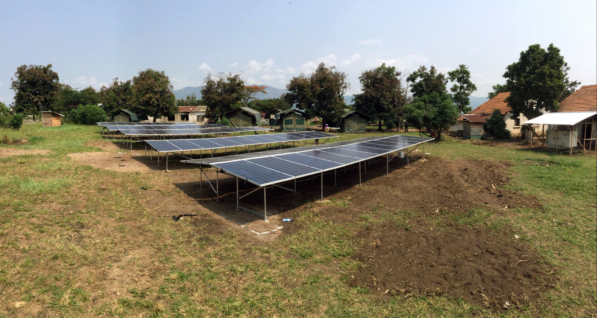 Solar photovoltaic array at Rwindi Ranger Station (Photo courtesy of Joe O'Connor)