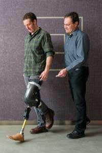 Professor Jan Andrysek (IBBME) is designins the next generation of prosthetic knees. (Photo: Neil Ta)