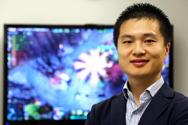 Portrait of alumnus and eSports enthusiast Victor Xin