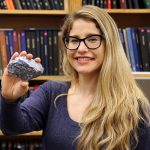 Professor Erin Bobicki researches new methods for extracting valuable minerals that use less energy and water than current methods. Her innovations could also enable the extraction of useful metals from materials previously discarded as waste. (Credit: Kevin Soobrian)