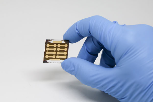 The new perovskite solar cells have achieved an efficiency of 20.1 per cent and can be manufactured at low temperatures, which reduces the cost and expands the number of possible applications. (Photo: Kevin Soobrian)