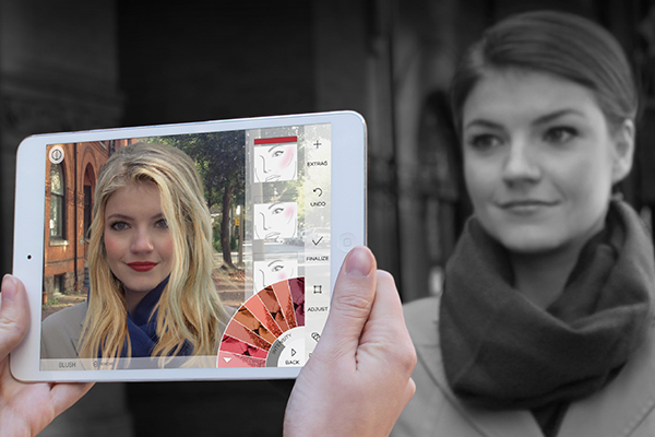 ModiFace technology lets users virtually manipulate their appearance, trying on makeup products and hair styles in 3D and real time. The company is hiring 50 Professional Experience Year (PEY) internship positions. (Photo: ModiFace).