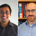 Professors Arun Ramchandran (ChemE) and Adam Steinberg (UTIAS) are U of T Engineering's two newest Canada Research Chairs (Photo: Jen Hsu/Tyler Irving)