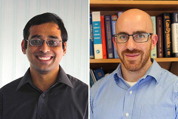 Professors Arun Ramchandran (ChemE) and Adam Steinberg (UTIAS) are U of T Engineering's two newest Canada Research Chairs (Photo: Jen Hsu/Tyler Irving)