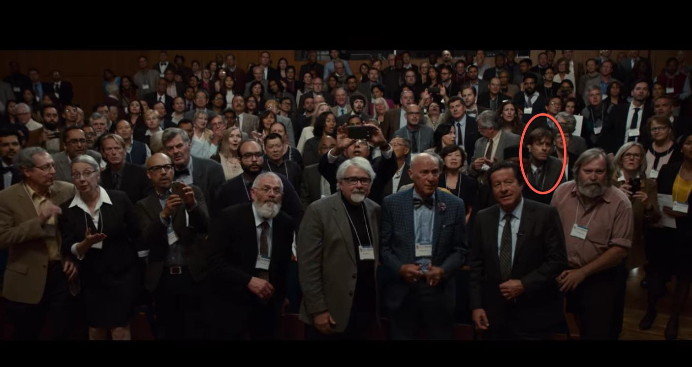 Professor Mark Kortschot (ChemE) appears in a scene from the film <em>Downsizing</em>.