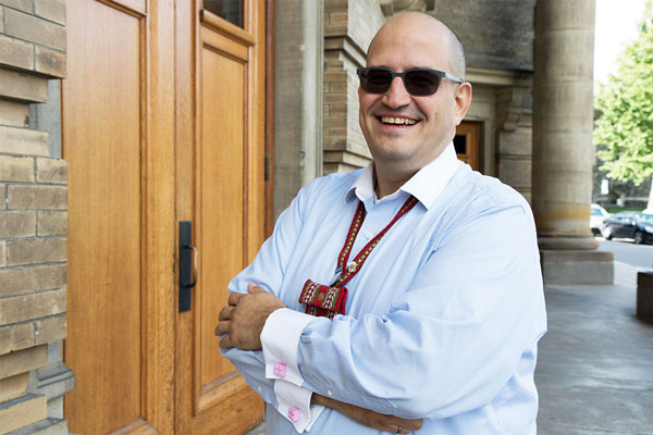 For Jason Bazylak, an associate professor in the Faculty of Applied Science & Engineering and member of the Métis Nation of Saskatchewan, engineering is about community-building (photo by Hannah James)