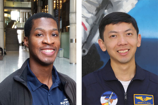 "The Aviation Week Network's list of ""Tomorrow's Technology Leaders: The 20 Twenties"" includes both alumnus Arthur Brown (EngSci 1T6) and student Jeremy Wang (Year 4 EngSci). (Photo: Tyler Irving)"