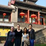U of T Engineering students Alice Wolfe, Jelica Bornath, Milan Yang, Ashley McIlvena (all MechE 1T7 + PEY) stand outside the Qing Dynasty Summer Palace in Beijing in October 2017. They were in China to collaborate with local students as part of the Department of Mechanical & Industrial Engineering's international capstone course. (Photo courtesy: Ashley McIlvena)