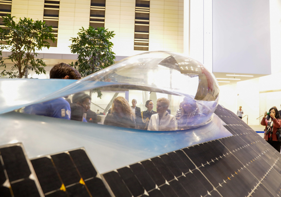 Polaris, the Blue Sky Solar Racing team's current vehicle. (Photo: Jenna Muirhead)