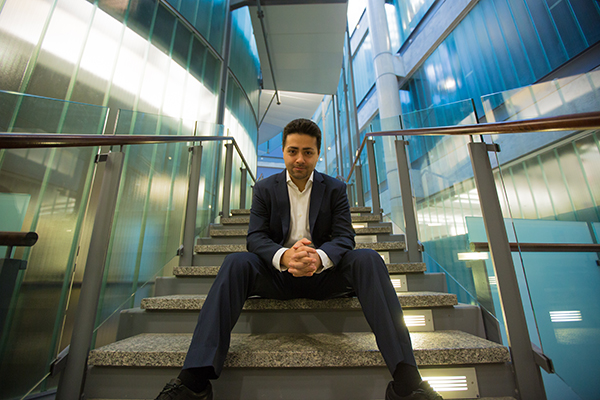 Professor Parham Aarabi (ECE) is the CEO and founder of ModiFace, a spin-off company that uses augmented reality (AR) and artificial intelligence (AI) to build advanced facial visualization software for the beauty and medical industries. ModiFace has been acquired by L'Oreal. (Credit: Johnny Guatto)